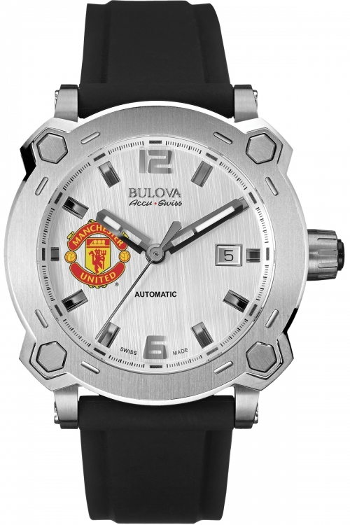 Mens Bulova AccuSwiss Percheron Manchester United Special Edition Automatic Watch 63B195