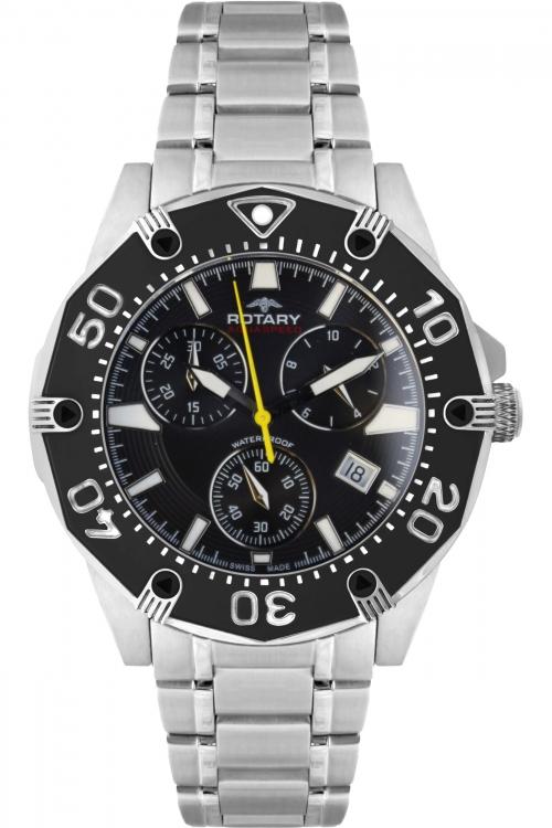 Mens Rotary Aquaspeed Swiss Chronograph Watch AGB90033/C/04