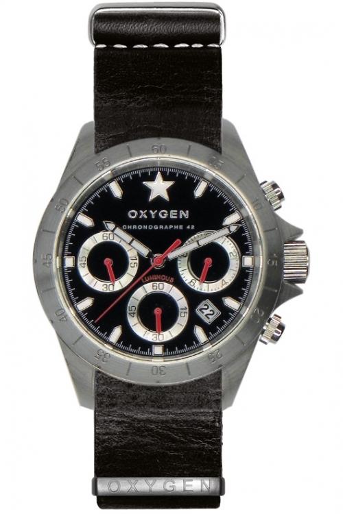 Mens Oxygen Chronograph Watch EX-C-SPR-42-NL-BL