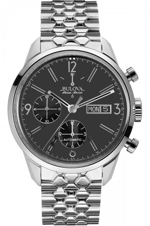 Mens Bulova AccuSwiss Tellaro Automatic Chronograph Watch 63C119