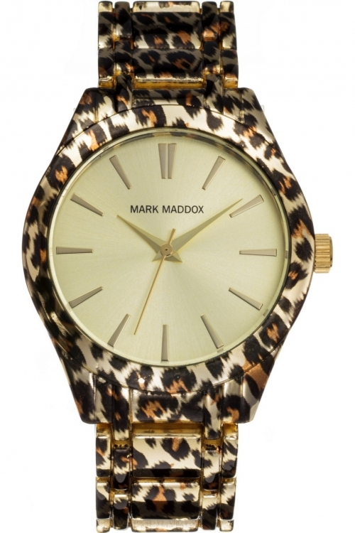 Ladies Mark Maddox Animal Print Watch