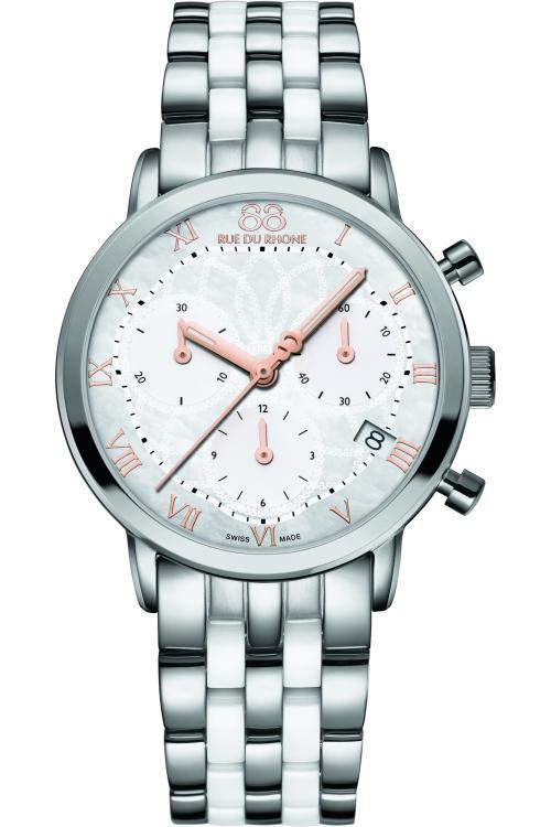 Ladies 88 Rue Du Rhone Double 8 Origin 35mm Ceramic Chronograph Watch