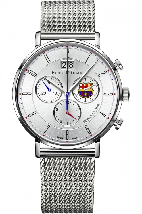 Mens Maurice Lacroix Eliros FC Barcelona Special Edition Chronograph Watch EL1088-SS002-120-001