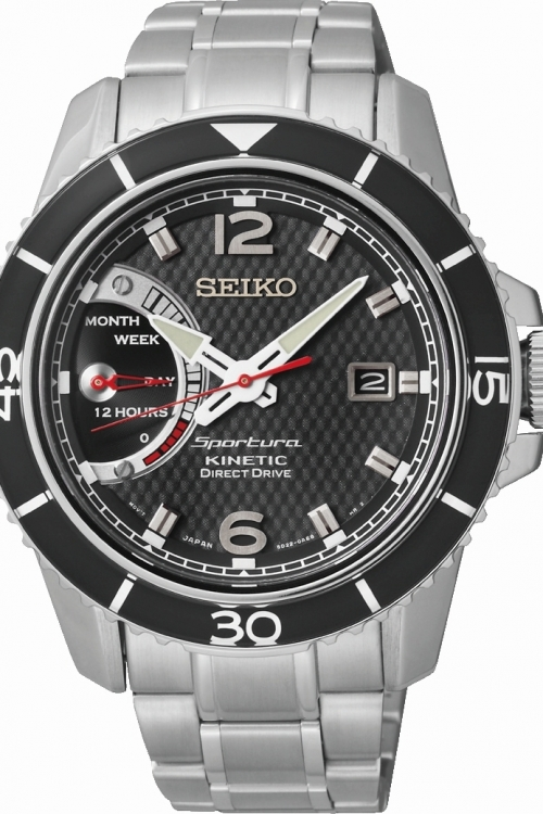 Mens Seiko Sportura Direct Drive Kinetic Watch SRG019P1