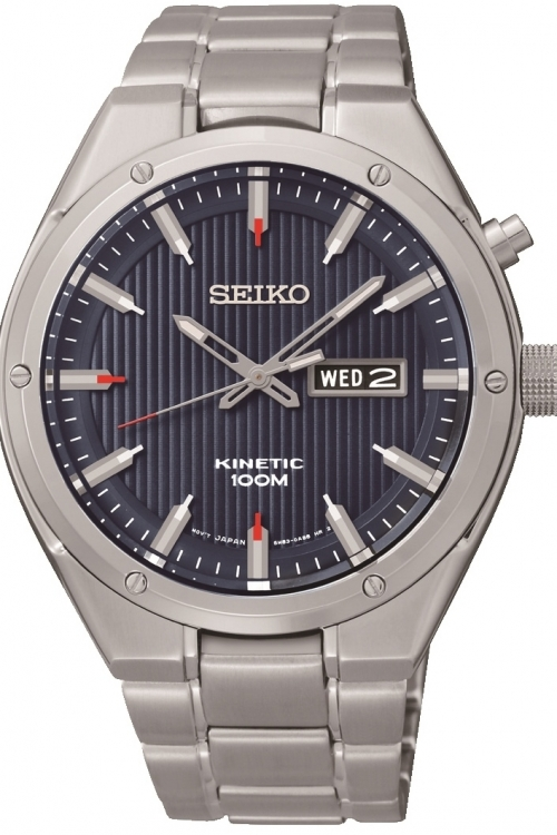 Mens Seiko Sports Kinetic Watch SMY149P1