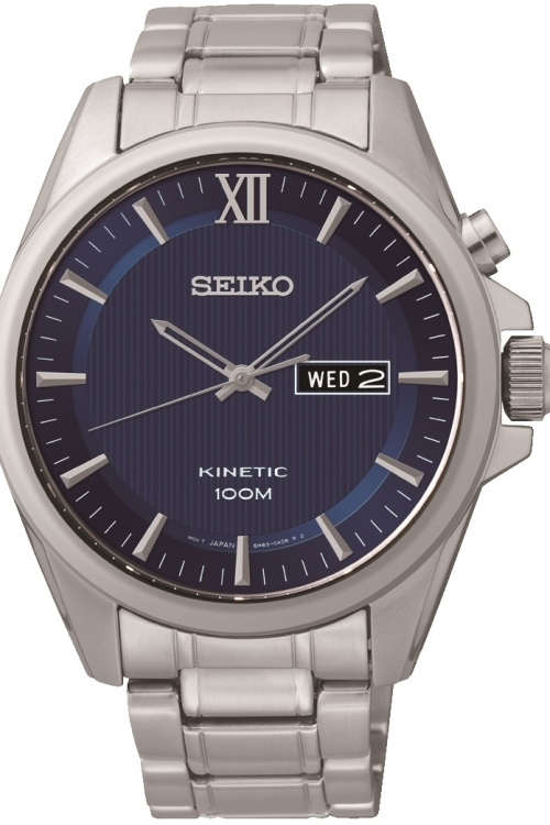 Mens Seiko Dress Kinetic Watch SMY159P1