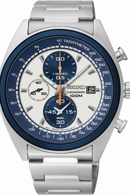 Mens Seiko Sports Chronograph Watch SNDF87P1