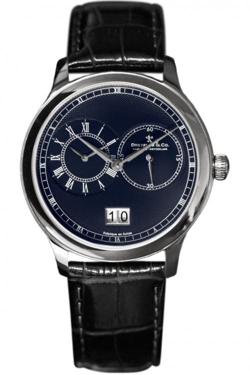 Mens Dreyfuss Co Dual Time Complication Watch DGS00120/05