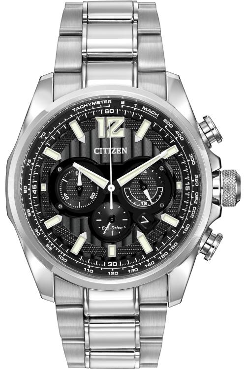 Mens Citizen Shadowhawk Chronograph Eco-Drive Watch CA4170-51E