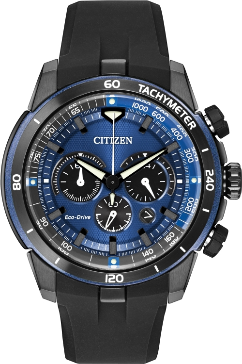 Mens Citizen Ecosphere Chronograph Eco-Drive Watch CA4155-12L