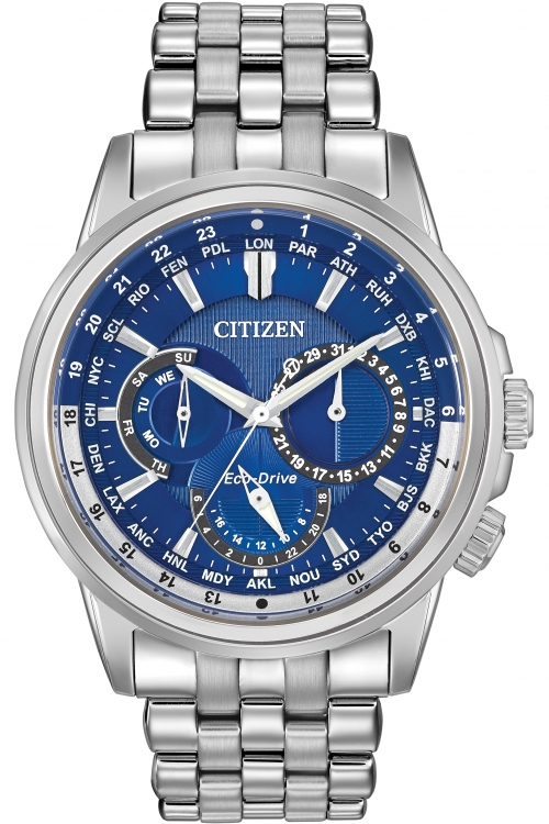 Mens Citizen World Timer Eco-Drive Watch BU2021-51L