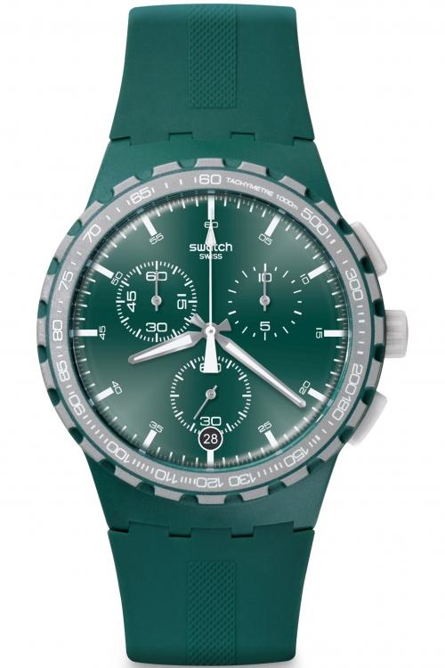 Mens Swatch Chrono Plastic - Racing Roar Chronograph Watch SUSG403