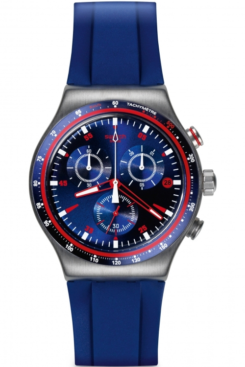 Mens Swatch Irony Chrono - Hookup Chronograph Watch YVS417