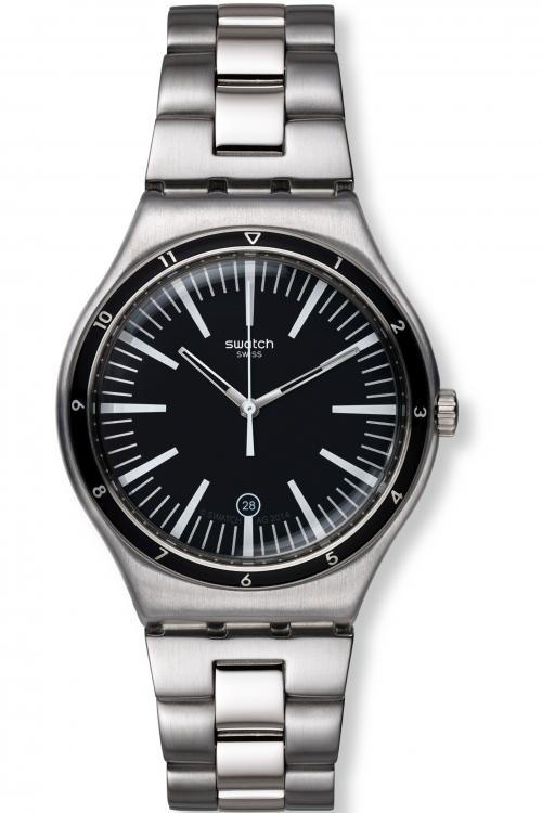 Mens Swatch Irony Big - Mire Noire Watch YWS411G