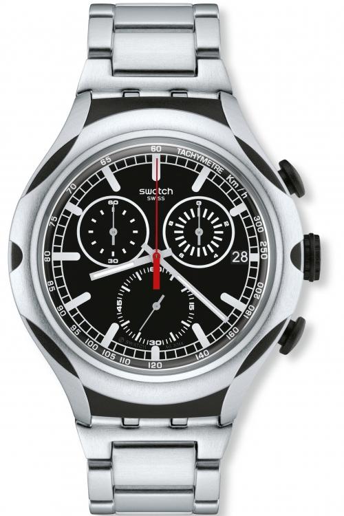 Mens Swatch Irony X-Lite - Black Energy Chronograph Watch YYS4000AG