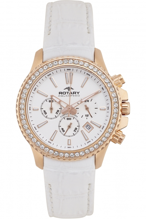 Ladies Rotary Aquaspeed Summer Rose Chronograph Watch