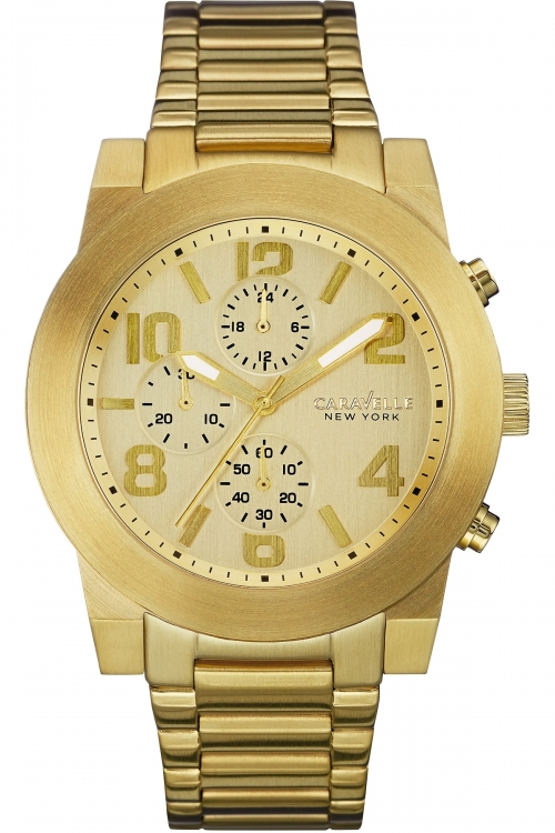 Mens Caravelle New York Sport Chronograph Watch 44A105