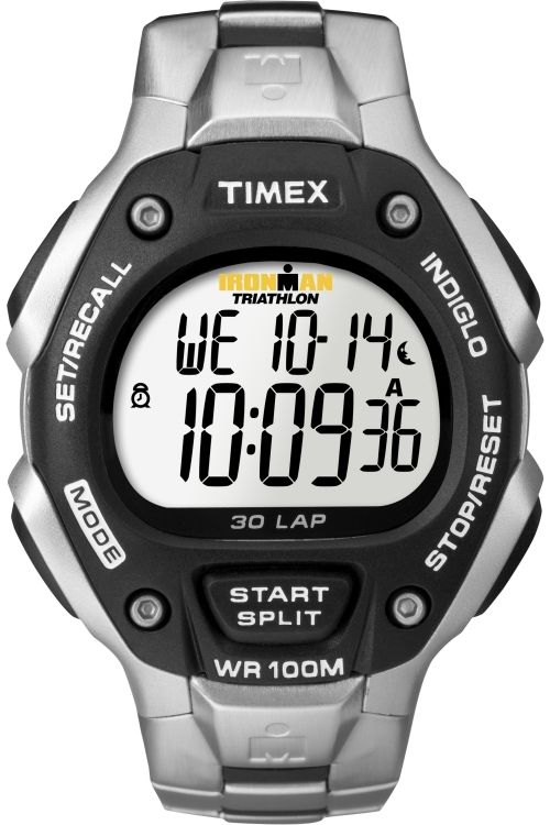 Mens Timex Indiglo Ironman 30-Lap Full Size Alarm Chronograph Watch T5H971