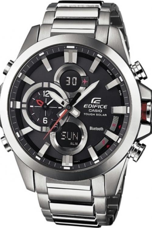 Mens Casio Edifice Bluetooth Alarm Chronograph Watch ECB-500D-1AER