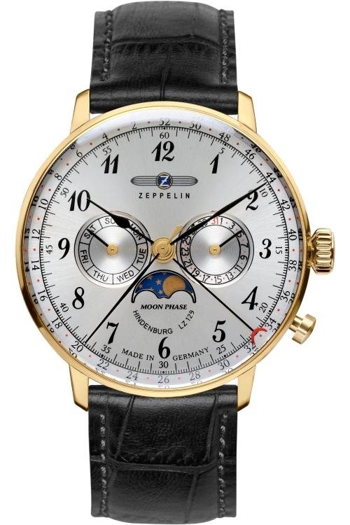 Mens Zeppelin Hindenburg Moonphase Watch 7038-1