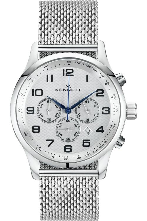 Mens Kennett Savro Modern Milanese Chronograph Watch SVSILWHMILMD