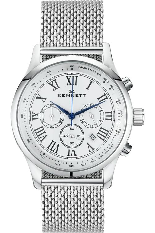 Mens Kennett Savro Milanese Chronograph Watch WSAVSILWHMIL