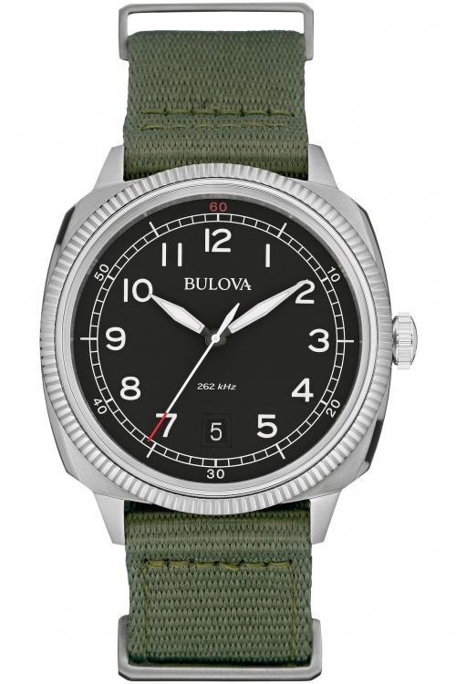 Mens Bulova Military UHF Watch 96B229