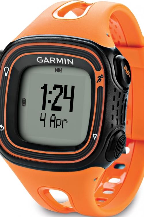 Mens Garmin Forerunner 10 GPS Alarm Chronograph Watch 010-01039-16