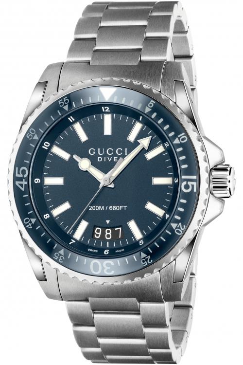 Mens Gucci Dive 45mm Watch YA136203