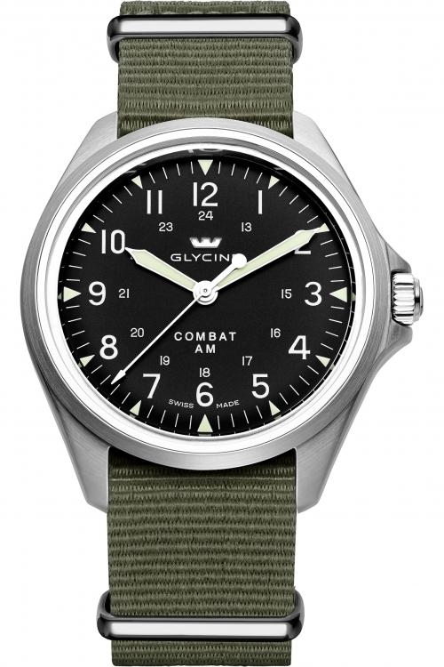 Mens Glycine Combat Seven Vintage Automatic Watch 3943.19AT-TB2