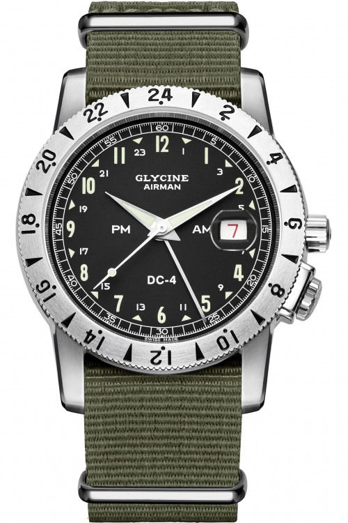 Mens Glycine Airman DC-4 Automatic Watch 3904.19AT12-TB2