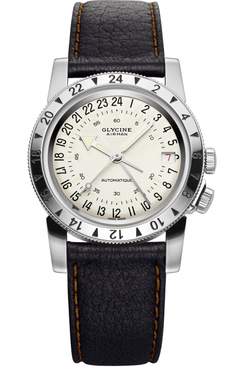 Mens Glycine Airman No1 Automatic Watch 3944.11-LB77U