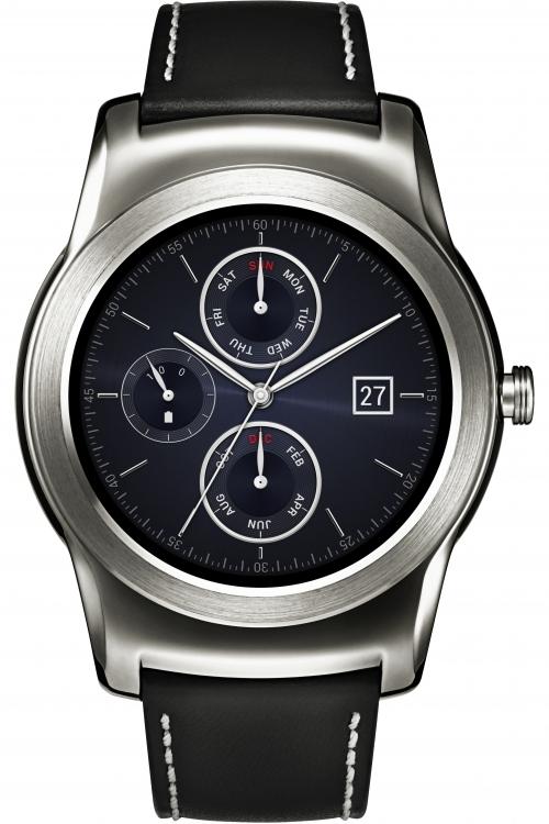 Unisex LG Watch Urbane Bluetooth Android Wear Smart Alarm Radio Controlled Watch GW150.AGBRSV