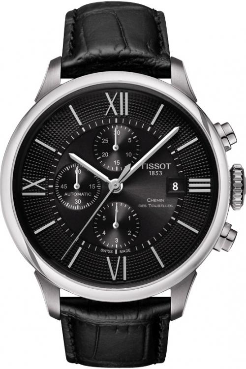 Mens Tissot Chemin Des Tourelles Automatic Chronograph Watch T0994271605800
