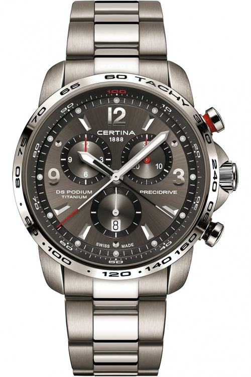 Mens Certina DS Podium Precidrive Titanium Chronograph Watch C0016474408700