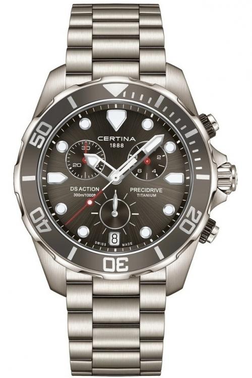 Mens Certina DS Action Precidrive Titanium Chronograph Watch C0324174408100