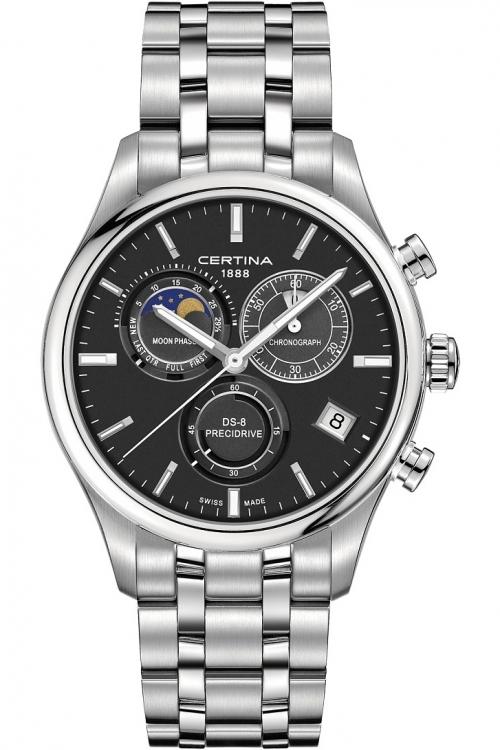 Mens Certina DS-8 Precidrive Moonphase Chronograph Watch C0334501105100