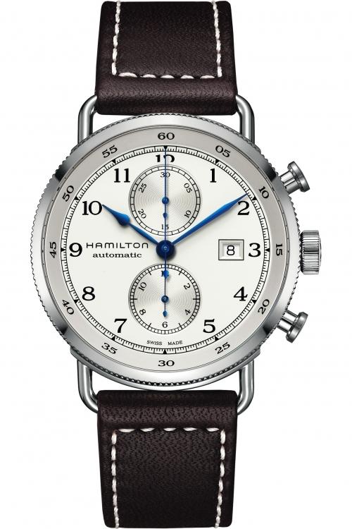 Mens Hamilton Khaki Navy Pioneer Automatic Chronograph Watch H77706553