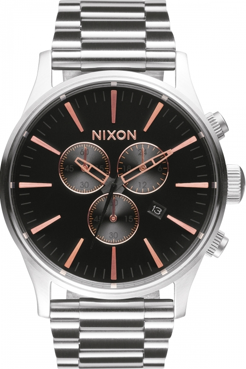Mens Nixon The Sentry Chronograph Watch A386-2064