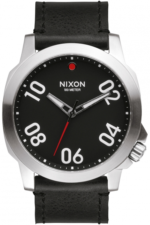 Mens Nixon The Ranger 45 Leather Watch A466-008
