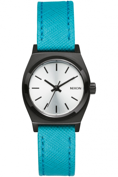Mens Nixon The Small Time Teller Leather Watch A509-2084