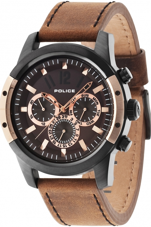 Mens Police Scrambler Chronograph Watch 14528JSBR/12