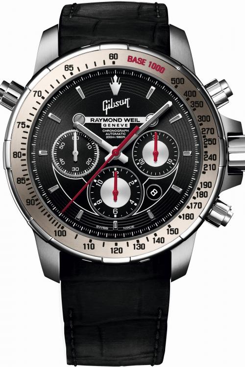 Mens Raymond Weil Nabucco Gibson Limited Edition Titanium Automatic Chronograph Watch 7850-TIR-GIBS1