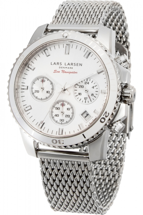 Mens Lars Larsen Sea Navigator Chronograph Watch 142SWWSM