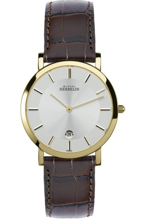 Mens Michel Herbelin Classic Epsilon Watch 413/P11MA