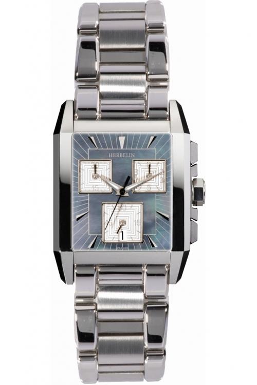Mens Michel Herbelin Kharga Chronograph Watch 34472/20B