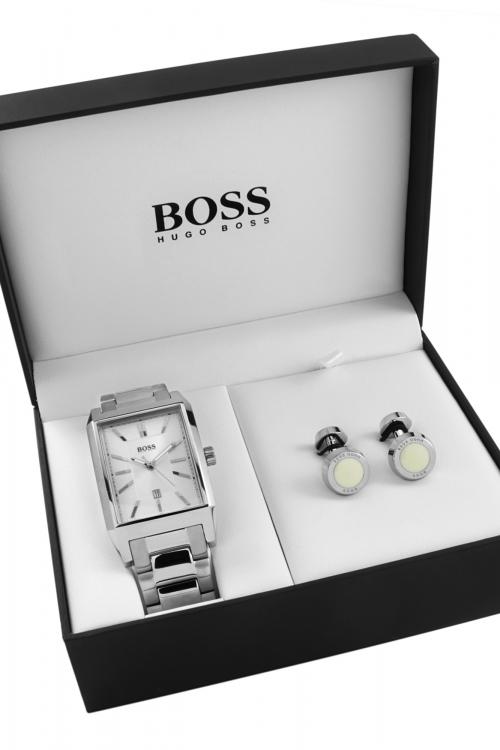 Mens Hugo Boss Cufflink Gift Set Watch 1570017