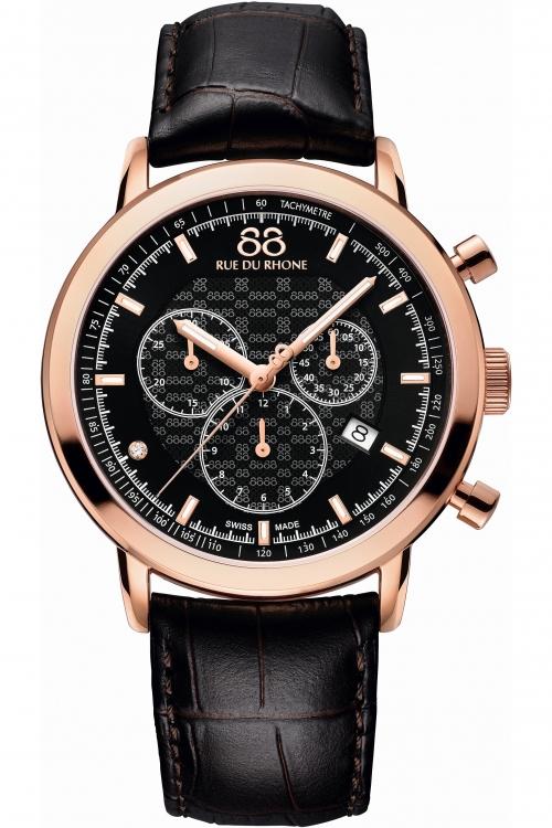 Mens 88 Rue Du Rhone Double 8 Origin Chronograph Diamond Watch 87WA154207