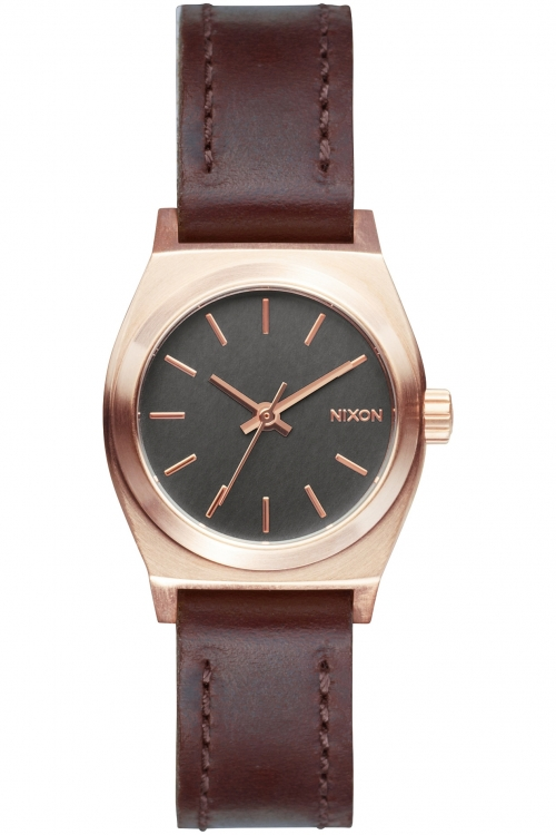 Unisex Nixon The Small Time Teller Leather Watch A509-2001