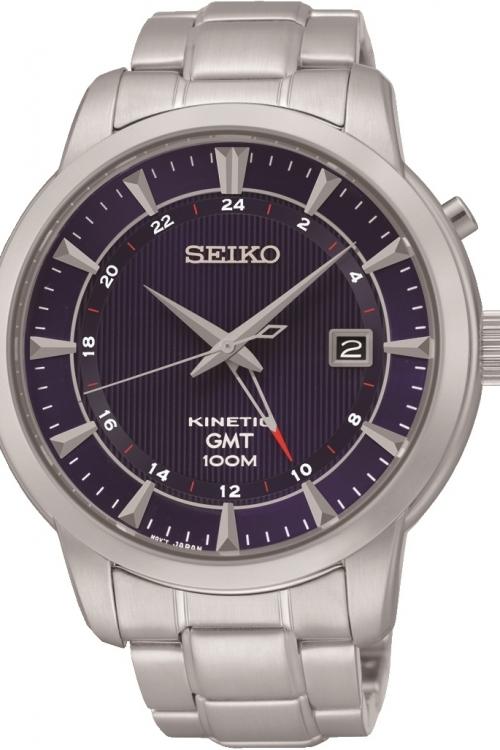 Mens Seiko GMT Kinetic Watch SUN031P1
